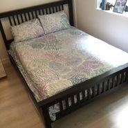 Picket & Rail Brown Wood Bed